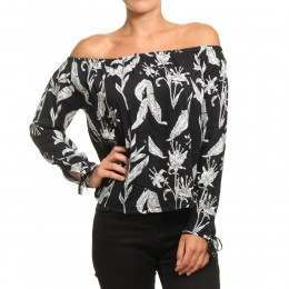 Roxy Ms Brightside Top Anthracite Love Letter