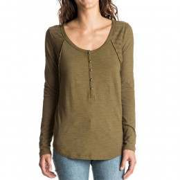 Roxy Here Today Long Sleeve Top Military Olive