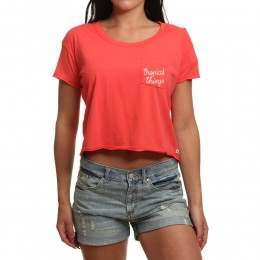 Roxy Tacos Tropical Cropped Tee Hibiscus