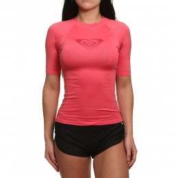 Roxy Whole Hearted Short Sleeve Rash Vest Red