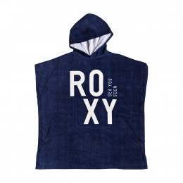 Roxy Pass This On Solid Towel Poncho Dress Blues