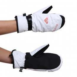 Roxy Jetty Solid Snow Mitts Bright White