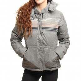 Roxy Freedom Stripe Jacket Charcoal Heather