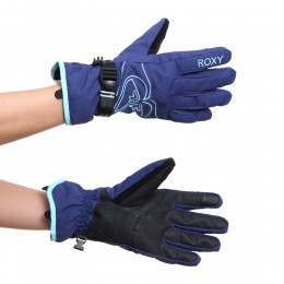 Roxy Popi Snow Gloves Blue Print