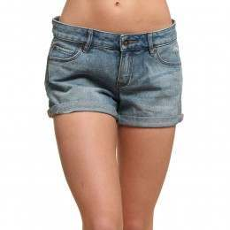 Roxy Midtown Denim Shorts Med Blue Wash