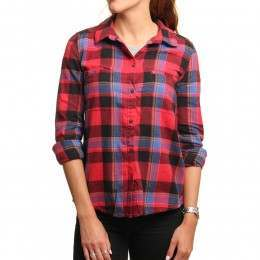 Roxy Campay Shirt Scarlet