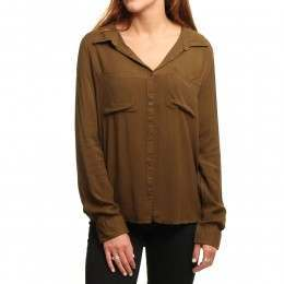 Roxy Away We Go Shirt Military Olive