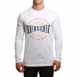 Quiksilver Mad Wave Long Sleeve Top White