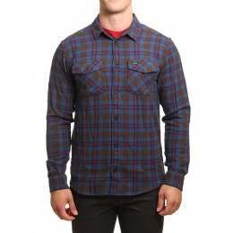 RVCA That'll Work Flannel Shirt Chocolate