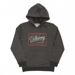Billabong Boys Baldwin Hoody Dark Grey Heather