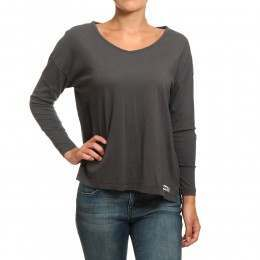 Billabong Essential Long Sleeve Top Off Black