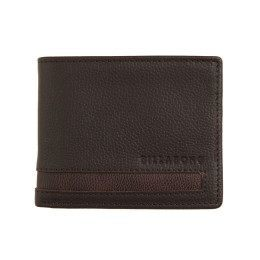 Billabong Empire Snap Leather Wallet Chocolate