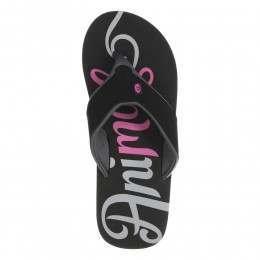 Animal Swish Logo Sandals Black