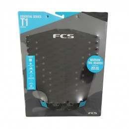 FCS T-1 Surfboard Deck Pad Black/Teal