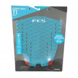 FCS T-1 Surfboard Deck Pad Teal/Red