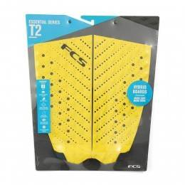 FCS T-2 Surfboard Deck Pad Yellow/Slate