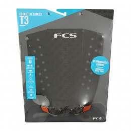 FCS T-3 Surfboard Deck Pad Black/Orange