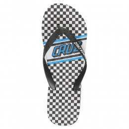 SANTA CRUZ CHECK STRIP FLIP FLOP SANDALS White