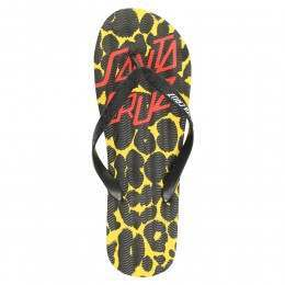 SANTA CRUZ DEMON DOT FLIP FLOP SANDALS Yellow