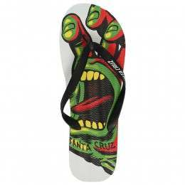 SANTA CRUZ RASTA FLIP FLOP SANDALS White