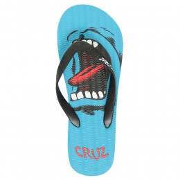 SANTA CRUZ SCREAMING HAND FLIP FLOP SANDALS Blue
