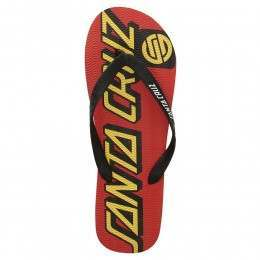 SANTA CRUZ STRIP FLIP FLOP SANDALS Red