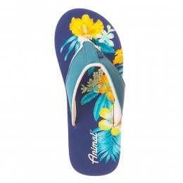 Animal Swish Placement Sandals Sea Blue