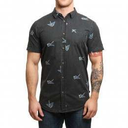 Globe Paper Cranes Shirt Vintage Black