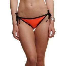 Glidesoul Neoprene Bikini Bottoms Peach/Black