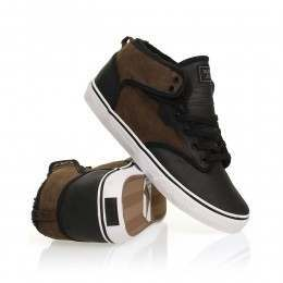 Globe Motley Mid Shoes Black/Choco Fur
