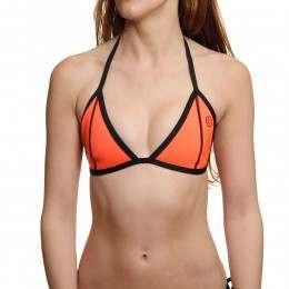 Glidesoul Tri Bikini Top Peach Black