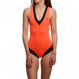 Glidesoul Neoprene Swimsuit Peach Black