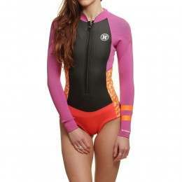 Hurley Fusion 202 Long Sleeve Shorty Fire Pink