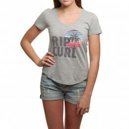 Ripcurl Sun And Surf Tee Cement Marle