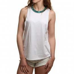 Ripcurl Surf Geo Muscle Top White