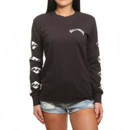 Billabong High Tide Long Sleeve Top Off Black