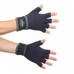 Animal Fars Fingerless Gloves Dark Navy