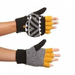Animal Pozza Flip Mitts Black