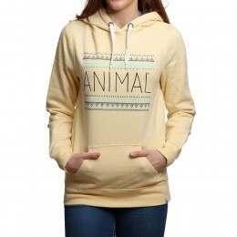 Animal Sketched Hoody Banana Yellow Marl
