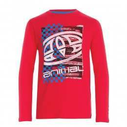 Animal Boys Board L/S Top Mars Red