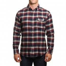 Vissla Central Coast Flannel Shirt Dark Navy