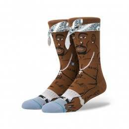 Stance Tupac Socks Brown