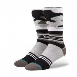 Stance Harden Camo Socks Heather Grey