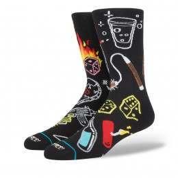 Stance Snake Eyes Socks Black
