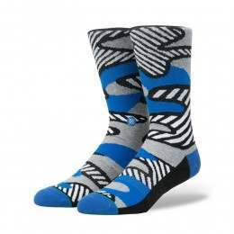 Stance Parsons Striped Camo Socks Grey Heather