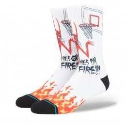 Stance On Fire Socks White