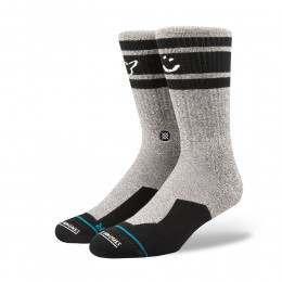 Stance Smiley Skate Socks Grey