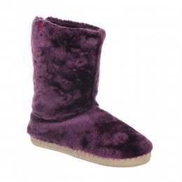 Animal Bollo Slipper Boots Dark Berry Purple