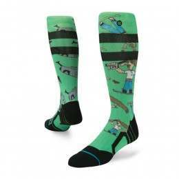 Stance Dad Cam Pro Model Snow Socks Green