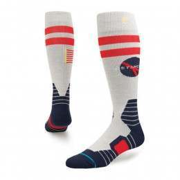 Stance Mission Control Snow Socks Grey